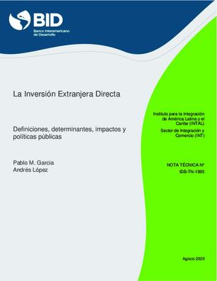 LA INVERSIÓN EXTRANJERA DIRECTA